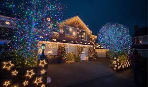 uk christmas lights display britain u0027s most festive road revealed