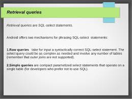 android sql sql lite android