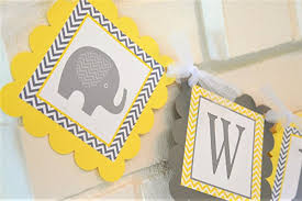 yellow and gray baby shower decorations yellow and gray welcome baby elephant baby shower