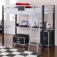 girls full loft bed with desk u2014 modern storage twin bed design