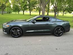 Silver Mustang Black Wheels Bought A 2015 Mustang Gt In Guard Green Over The Weekend Cars