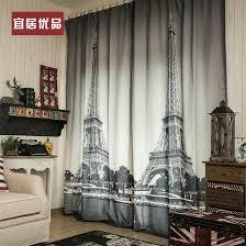popular white curtain blackout buy cheap white curtain blackout 3d black and white paris living room curtains blackout curtains 1 3 2 6 m free shipping