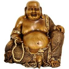 oriental furniture 10 in sitting hotei happy buddha decorative