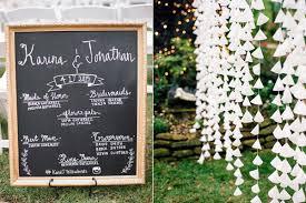 Chalkboard Wedding Program Organic And Romantic Texas Wedding Ruffled