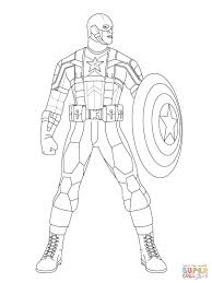 captain america ready to fight coloring page free printable