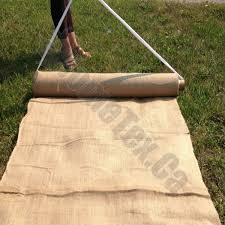 burlap wedding aisle runner 40 wide burlap aisle runner 30