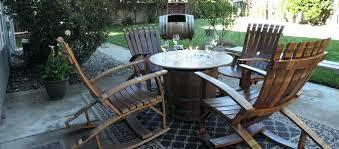 Wine Barrel Patio Table Wine Barrel Patio Furniture Half Wine Barrel Bar Table Inside Wine
