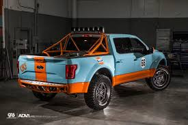 gulf racing mustang gulf 2016 ford f 150 has gulf livery and adv 1 wheels autoevolution