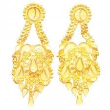 gold ear ring images earrings designer gold earring online shopping gopaldas gems