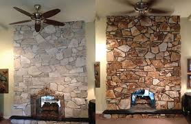 How To Resurface A Brick Fireplace by How To Whitewash Stone Diy Fireplace Makeover Fireplace Stone