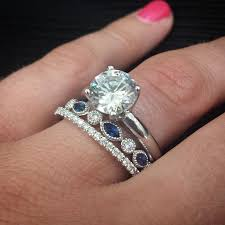sapphires wedding rings images Antique diamond and blue sapphire wedding band looks amazing jpg
