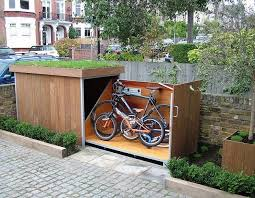 How To Build A Small Backyard Storage Shed by Best 25 Outdoor Bike Storage Ideas On Pinterest Bike Storage