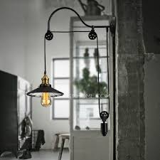 Vintage Industrial Wall Sconce Cheap Industrial Lighting Pulley Shaped Adjustable Wall Sconce