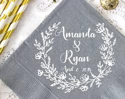 wedding napkins wedding napkins etsy