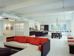 dining room couch appliances grand space concept with huge lounge couch with red