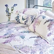 sanderson wisteria falls oxford pillowcase lilac jarrold norwich