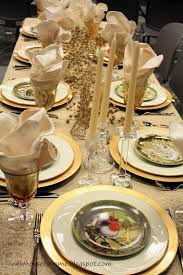 Gold Table Decorations Christmas Table Decorations Gold