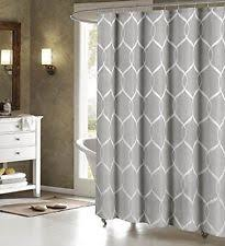 Gray Fabric Shower Curtain Geometric Moroccan Fabric Shower Curtains Ebay