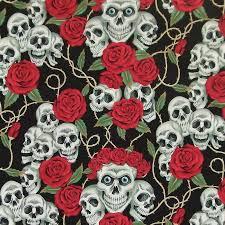 skulls and roses cushion cover by twentysevenpalms