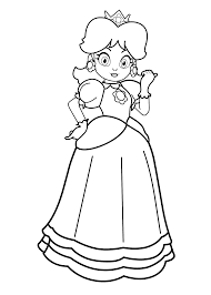 super mario daisy coloring pages coloring home