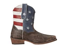 Faded American Flag Roper American Flag Shorty At Zappos Com