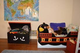 Pirate Ship Toddler Bed A Bedroom Makeover For A 6 Year Old Boy Invites Play In The Great