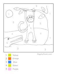 free worksheets color by number worksheets for kindergarten free