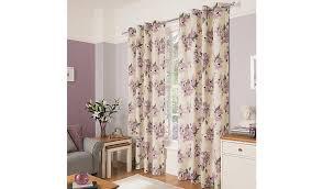 Purple Floral Curtains George Home Mauve Watercolour Floral Curtains Home Garden