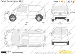 renault kangoo 2015 the blueprints com vector drawing renault kangoo express