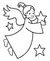 angel coloring pages for preschool funycoloring