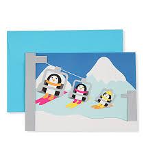 moma christmas cards moma moma penguin skiers set of eight christmas cards
