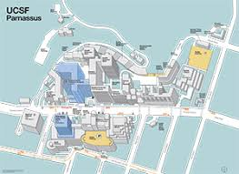 san francisco hospitals map image of parnassus work center and