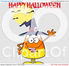 halloween clipart transparent background clipart of a cartoon candy corn character wearing a witch hat and