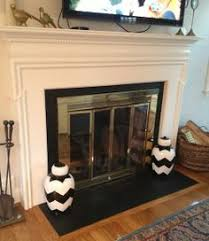 Paint Tile Fireplace by Diy Paint Tile Fireplace Metallic Silver For A Stainless Steel