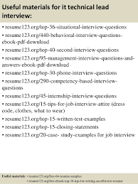 Resume Format For It Jobs by Top 8 It Technical Lead Resume Samples
