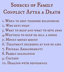 Quotes After Losing A Loved One by Family Fighting After A Death Text Palliative U0026 Hospice Care