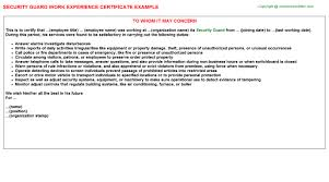 sample resume security guard entry level security guard resume