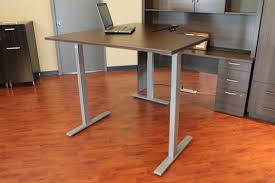 Stand Or Sit Desk by Electric Stand Sit Desk Toronto Office Furniture Inc Tofi