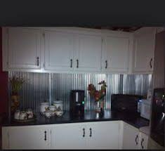 Create A Custom Backsplash Out Of Corrugated Metal Roofing For - Corrugated metal backsplash