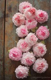 peonies flowers peony coffee filter flowers tutorial pretty petals