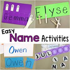 easy do it yourself name activities for preschoolers