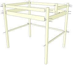 plan pour fabriquer un bureau en bois plan pour lit superpose comment construire un lit mezzanine memes