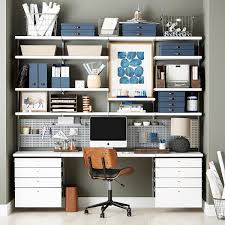 Office Wall Organization System by Office Shelves Wall Shelves U0026 Home Office Ideas The Container Store