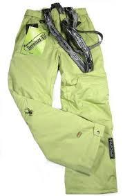 spyder descente ski spyder insulated ski snow pants green spyder