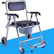 amazon com folding chair old man wheeled commode over toilet