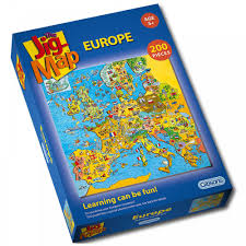 Europe Map Puzzle by Jig Map Europe 200 Piece Puzzle Gibsons From Craftyarts Co Uk Uk