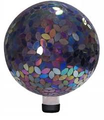 Garden Gazing Globes Amazon Com Alpine Mosaic Gazing Ball 10 Inch Purple Gazing
