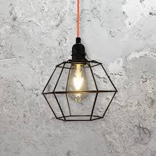 Geometric Pendant Light by Geometric Cage Pendant Light Clb 00520 E2 Contract Lighting Uk