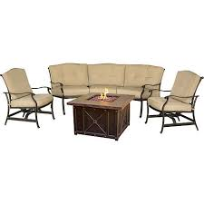 40 fire pit hanover traditions 4 piece conversation set with 40
