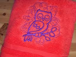 dreamy owl towels embroidered hand bath u0026 towel sets bird